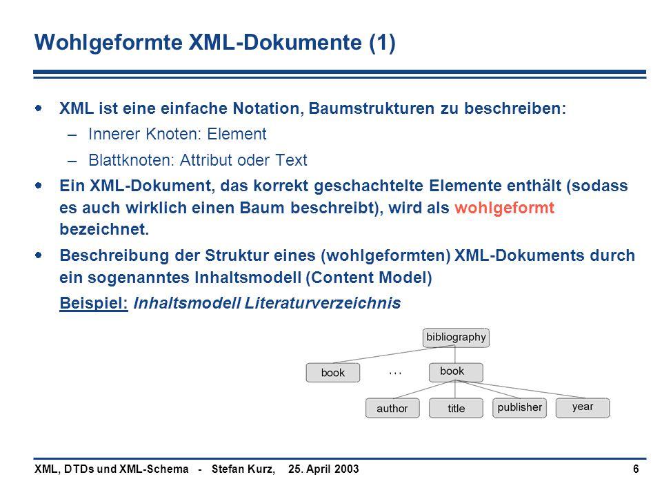 Wohlgeformte XML-Dokumente (1)
