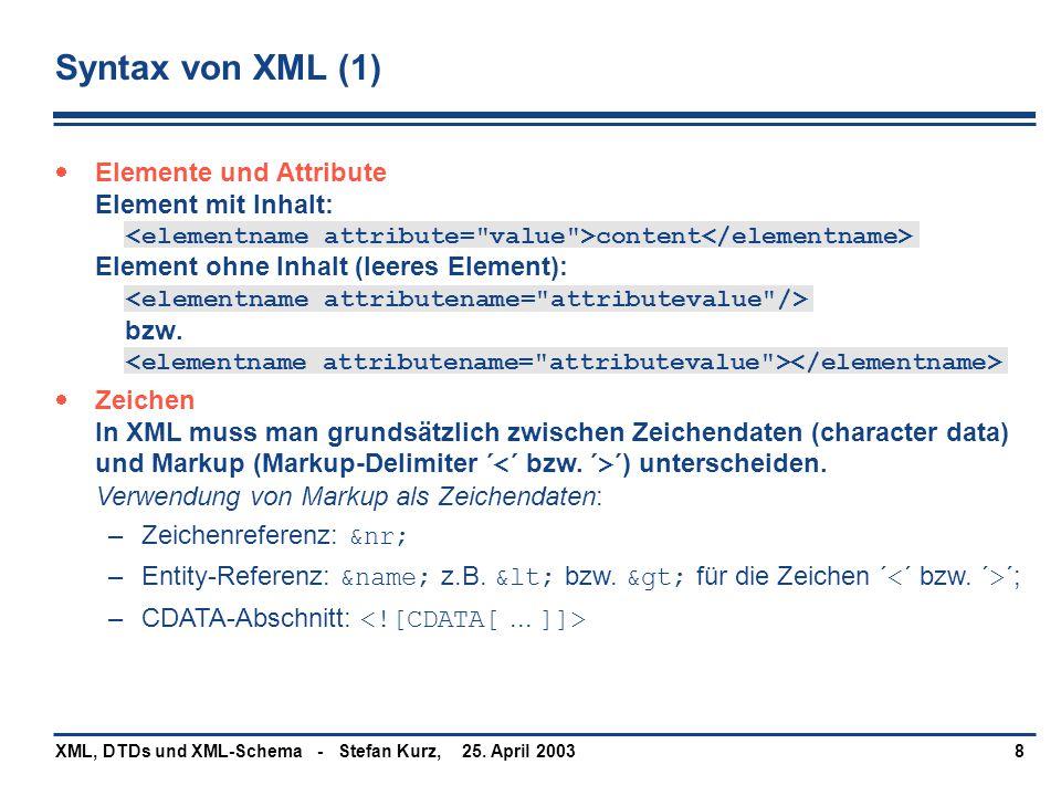 Syntax von XML (1)