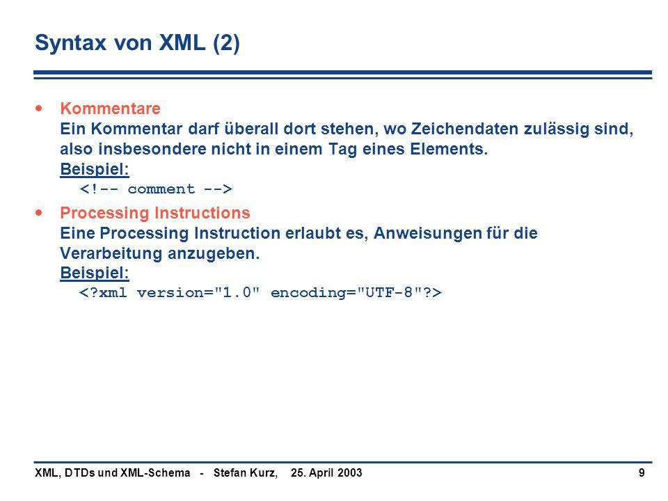 Syntax von XML (2)