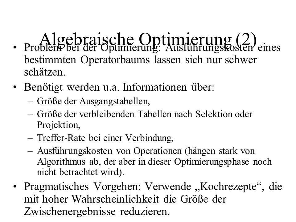 Algebraische Optimierung (2)