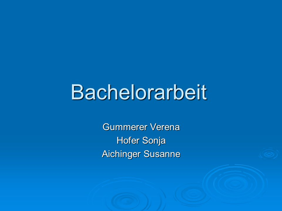 Gummerer Verena Hofer Sonja Aichinger Susanne