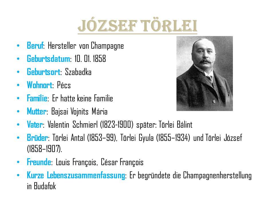 József Törlei Beruf: Hersteller von Champagne