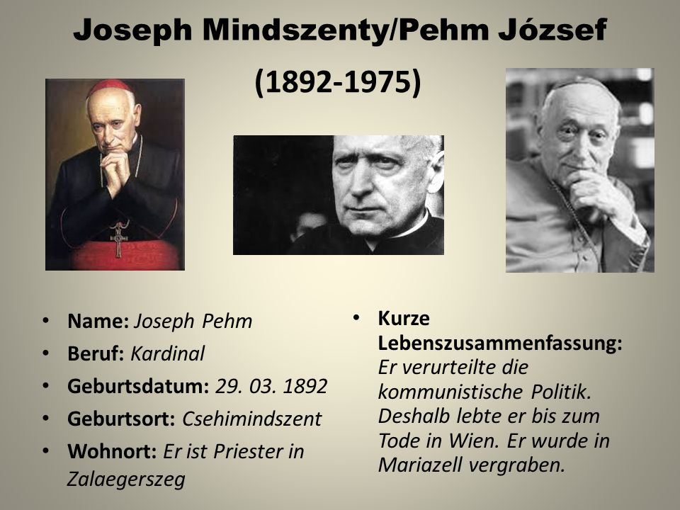 Joseph Mindszenty/Pehm József