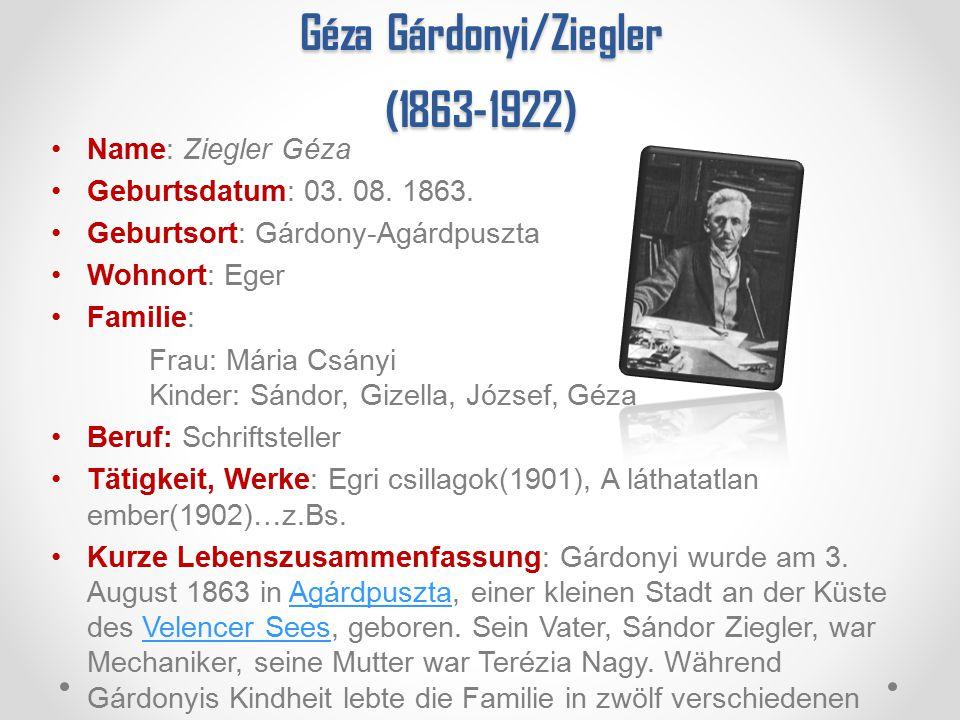 Géza Gárdonyi/Ziegler (1863-1922)