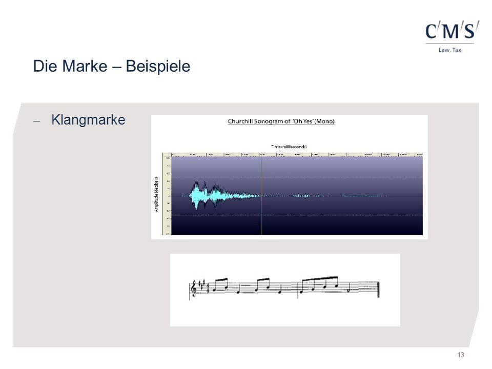 Die Marke – Beispiele Klangmarke