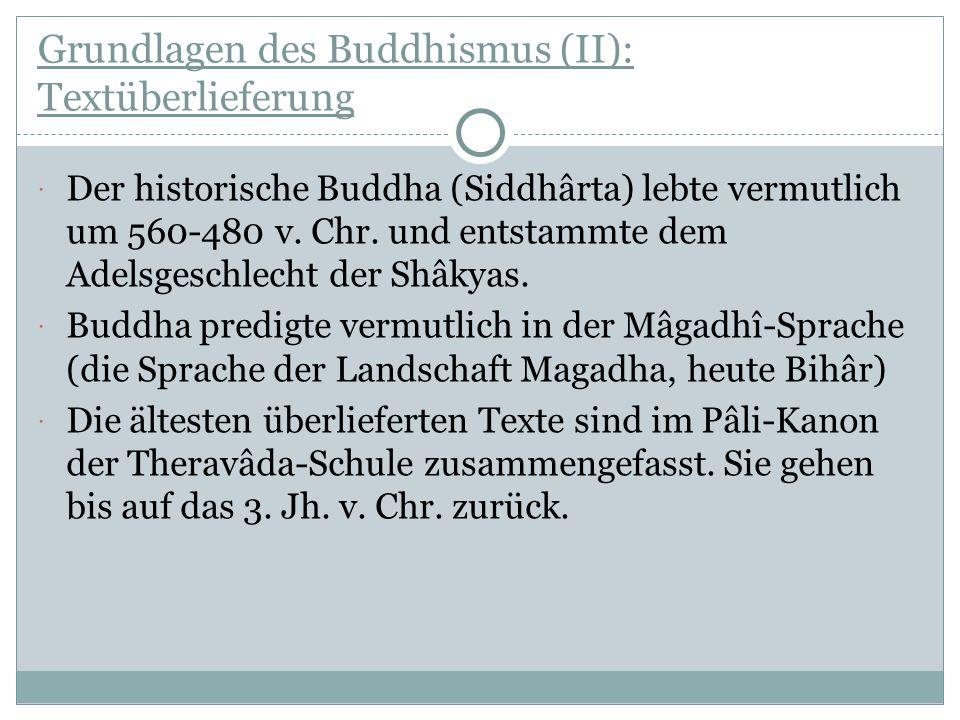 Grundlagen des Buddhismus (II): Textüberlieferung