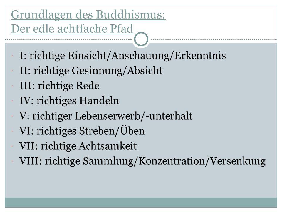 Grundlagen des Buddhismus: Der edle achtfache Pfad