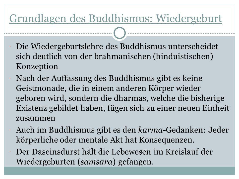 Grundlagen des Buddhismus: Wiedergeburt