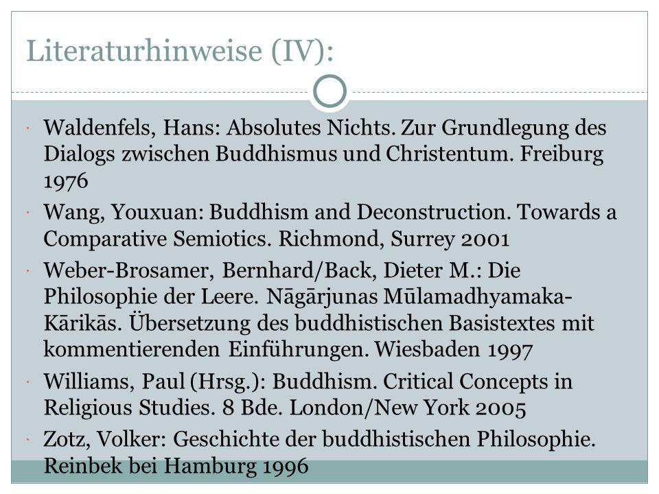 Literaturhinweise (IV):