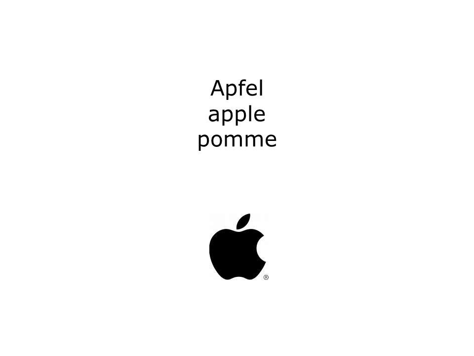 Apfel apple pomme