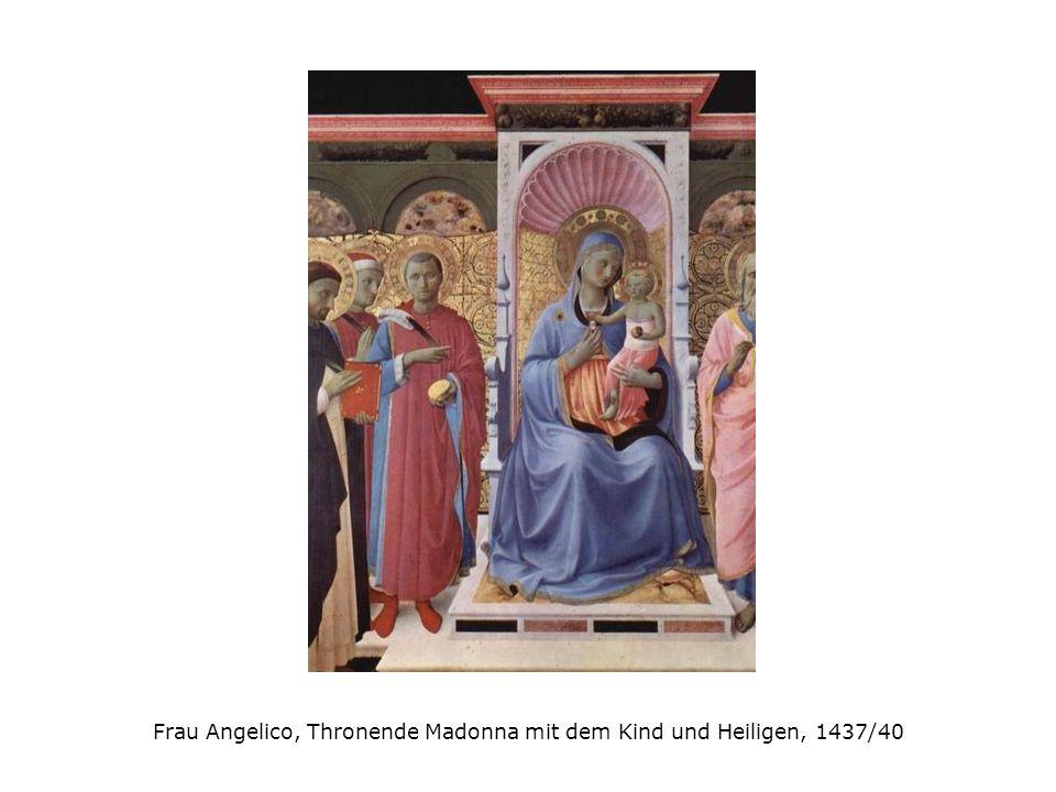 Frau Angelico, Thronende Madonna mit dem Kind und Heiligen, 1437/40