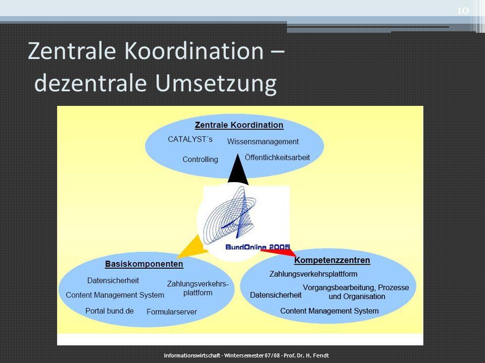 Zentrale Koordination – dezentrale Umsetzung