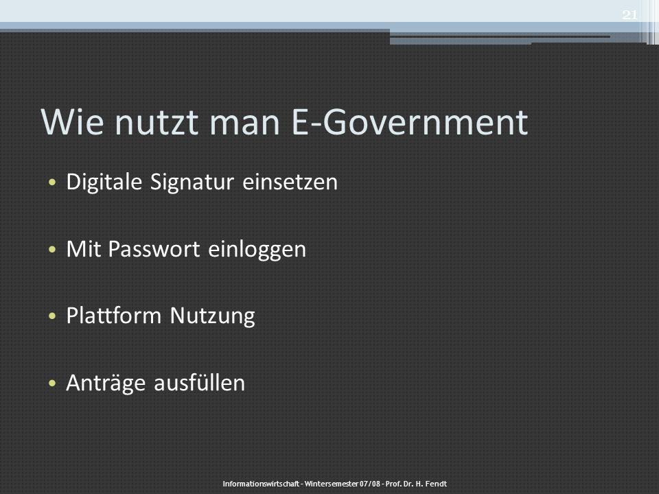Wie nutzt man E-Government