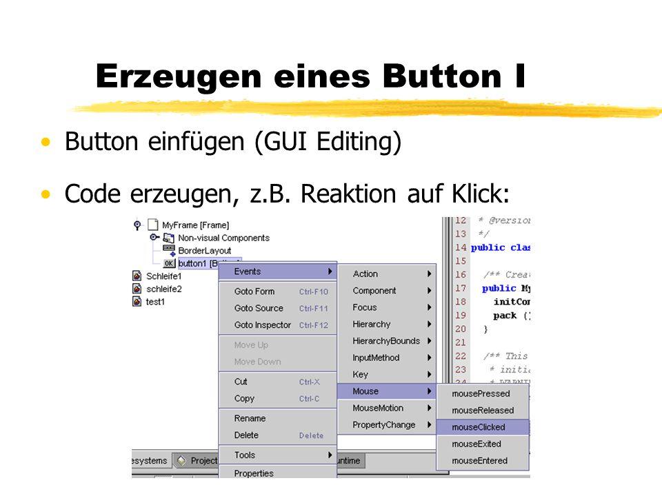Erzeugen eines Button I