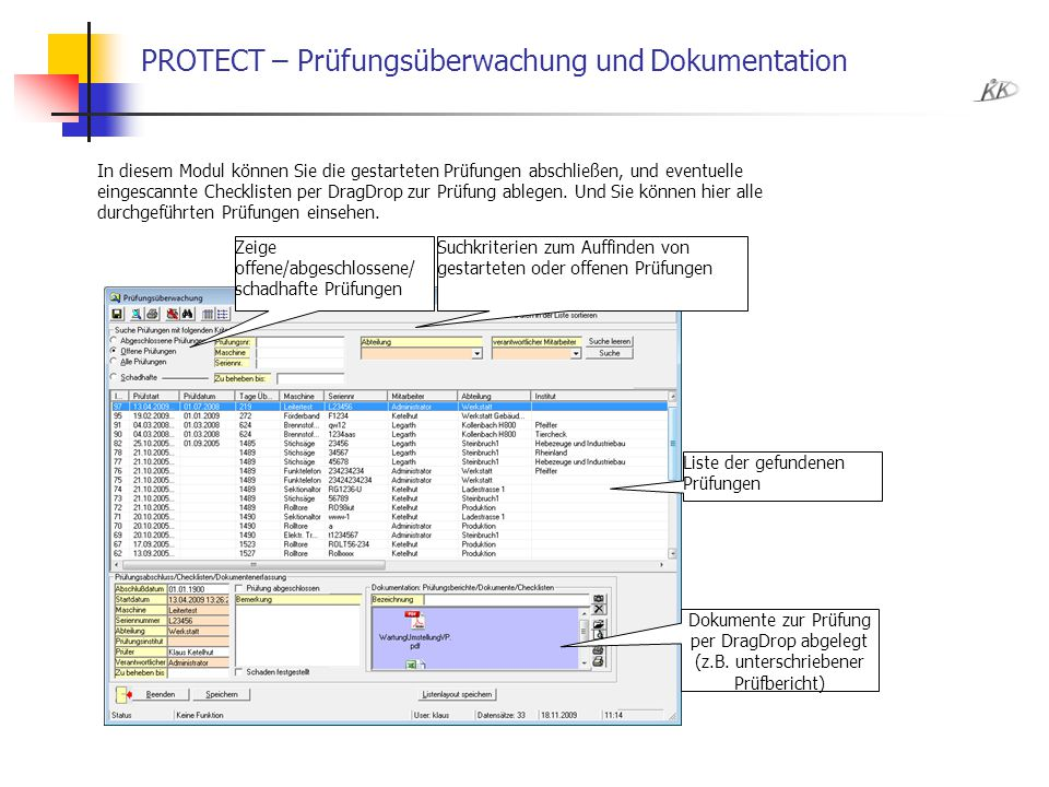 PROTECT – Prüfungsüberwachung und Dokumentation