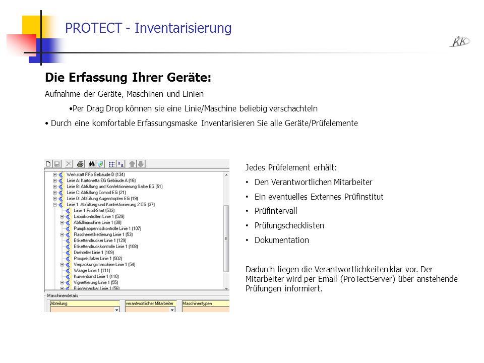 PROTECT - Inventarisierung