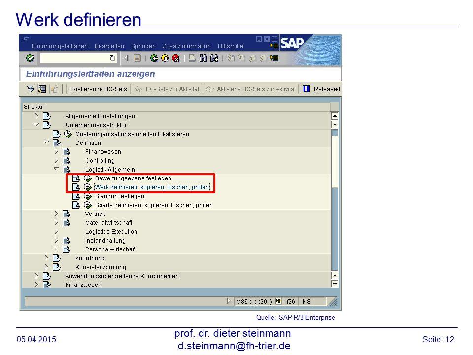 prof. dr. dieter steinmann d.steinmann@fh-trier.de