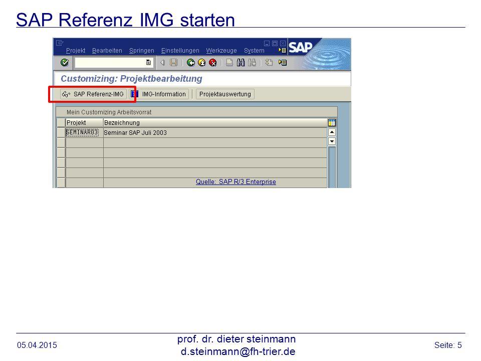 SAP Referenz IMG starten