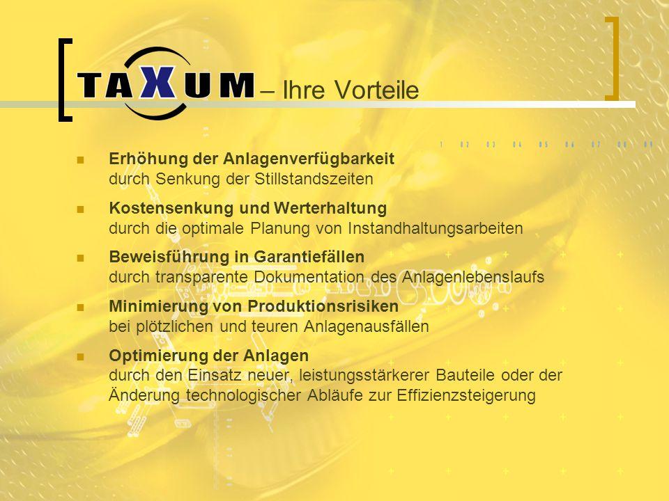 – Ihre Vorteile Erhöhung der Anlagenverfügbarkeit durch Senkung der Stillstandszeiten.