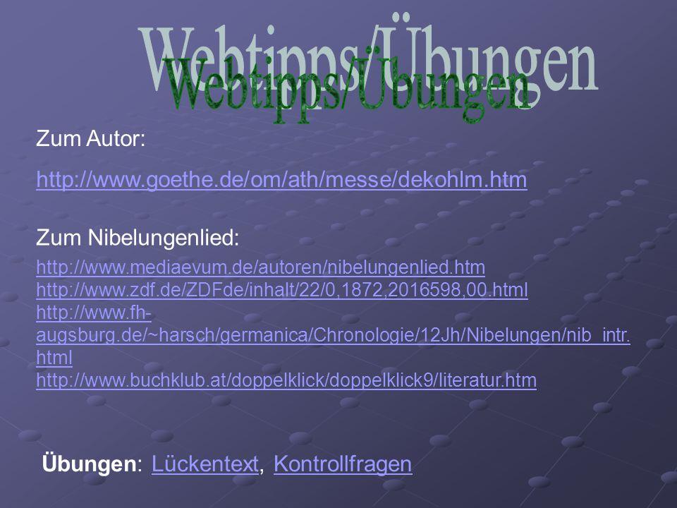 Webtipps/Übungen Zum Autor: