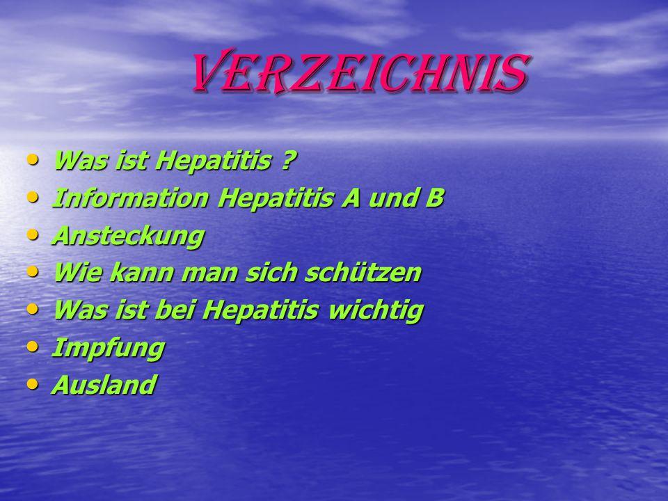 Verzeichnis Was ist Hepatitis Information Hepatitis A und B