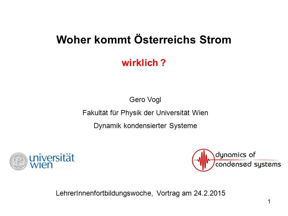 Woher kommt Österreichs Strom