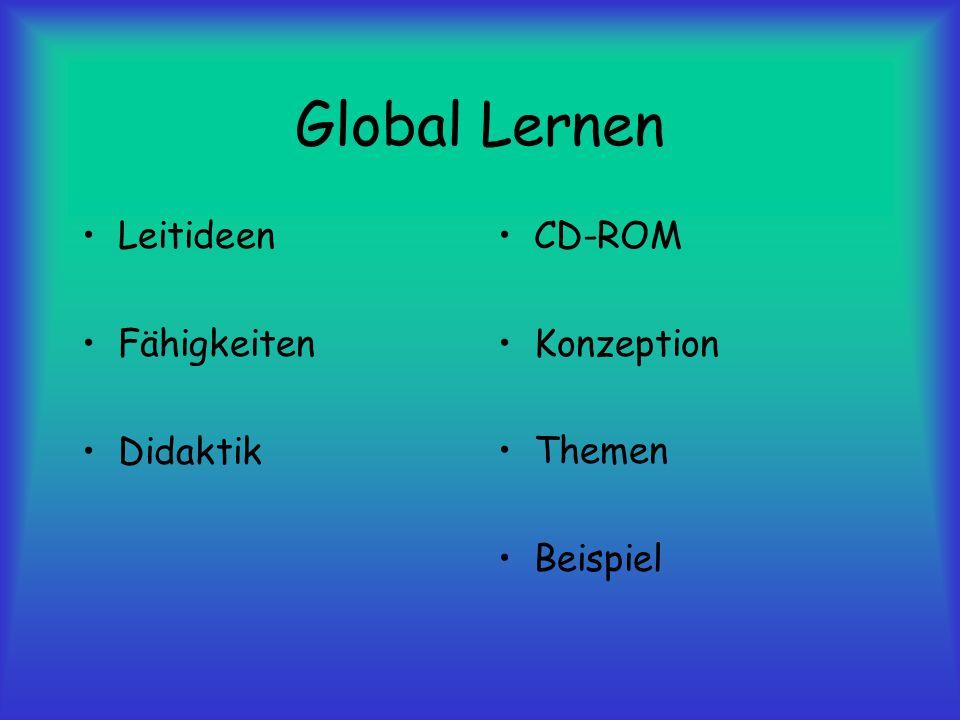 Global Lernen Leitideen Fähigkeiten Didaktik CD-ROM Konzeption Themen