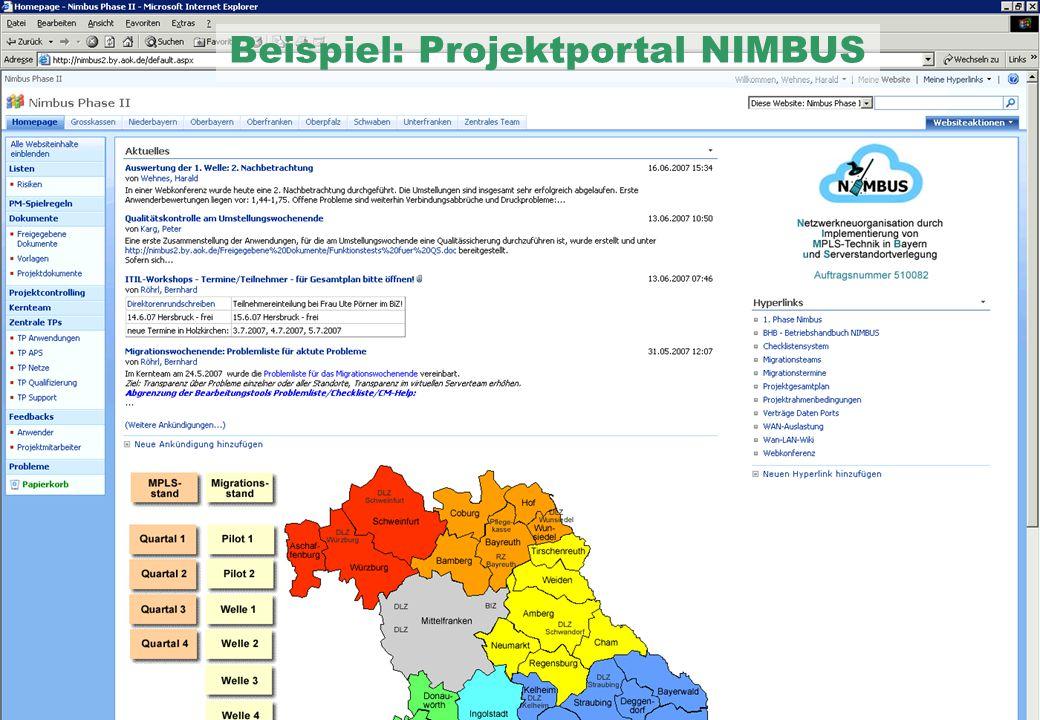 Beispiel: Projektportal NIMBUS