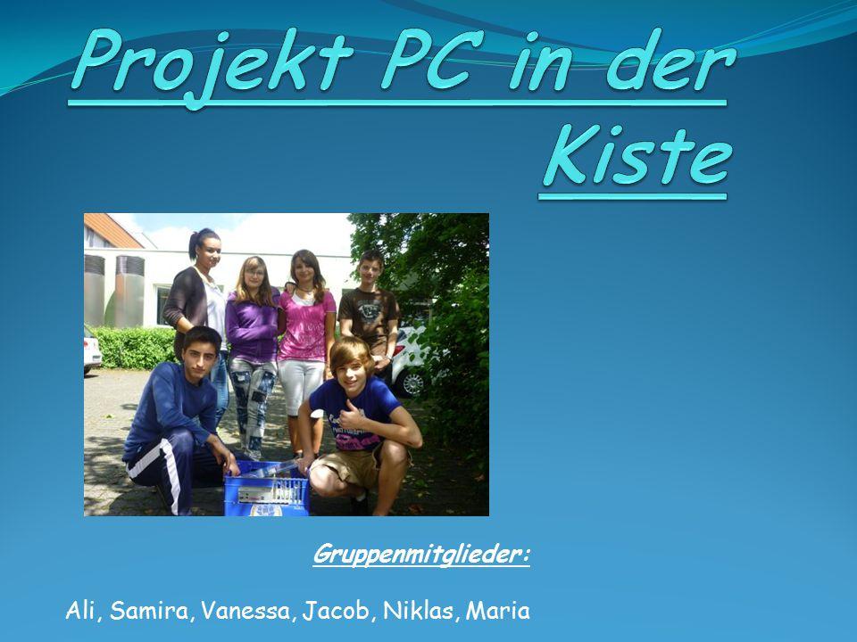 Gruppenmitglieder: Ali, Samira, Vanessa, Jacob, Niklas, Maria