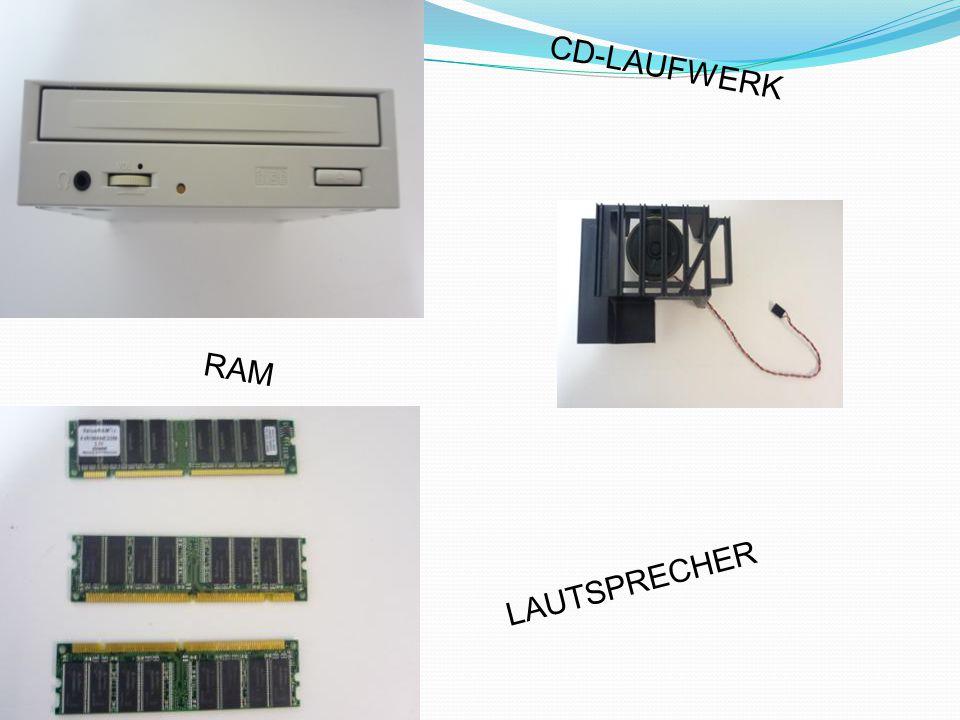CD-LAUFWERK RAM LAUTSPRECHER