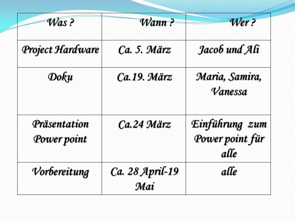 Präsentation Power point Ca.24 März