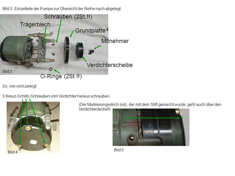 Schrauben (2St.!!) Trägerblech Grundplatte Mitnehmer Verdichterscheibe
