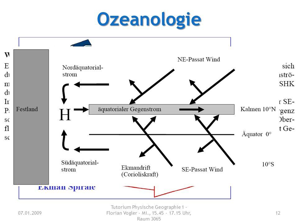 Ozeanologie Welche Antriebsmöglichkeiten für Meersströmungen gibt es