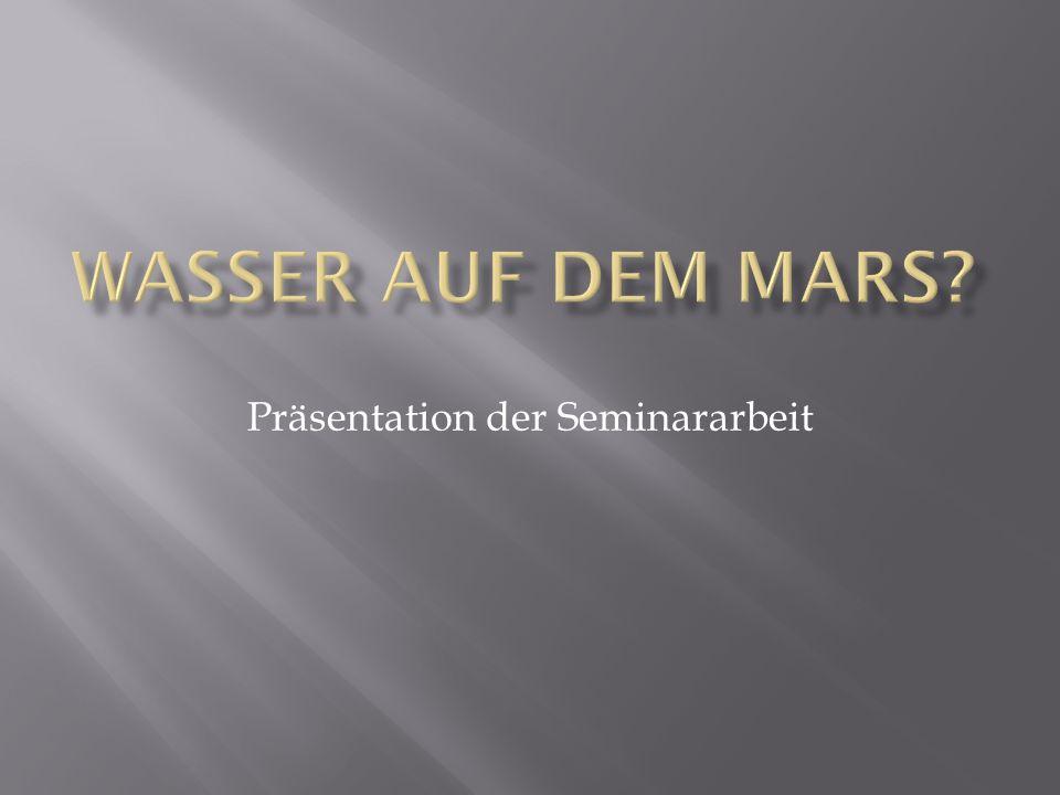 Präsentation der Seminararbeit