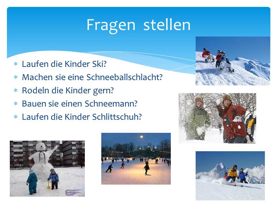 Fragen stellen Laufen die Kinder Ski