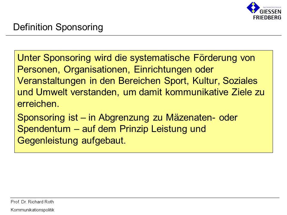 Definition Sponsoring