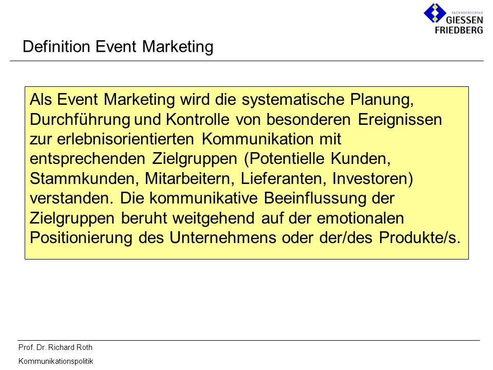 Definition Event Marketing
