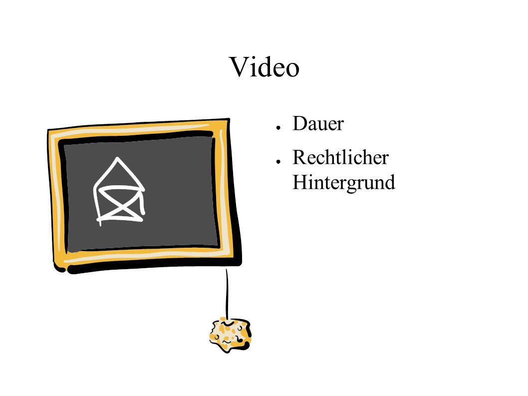 Video Dauer Rechtlicher Hintergrund