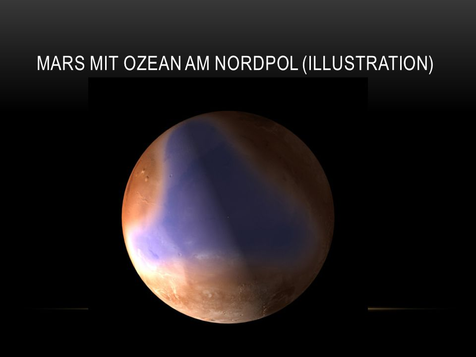 Mars mit Ozean am Nordpol (Illustration)