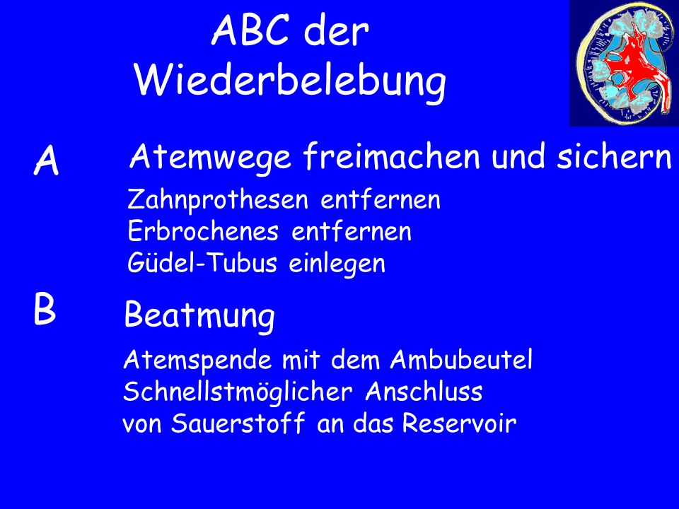 ABC der Wiederbelebung