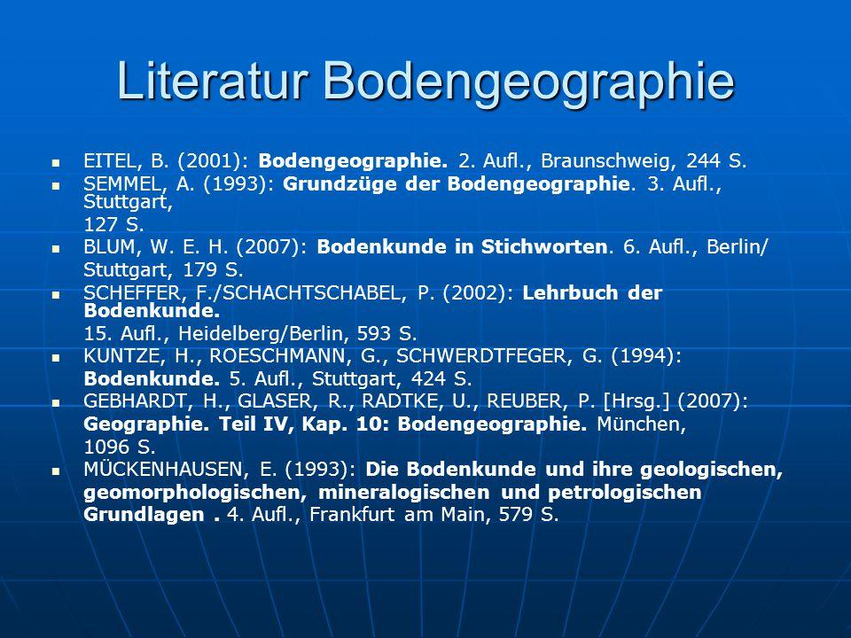 Literatur Bodengeographie