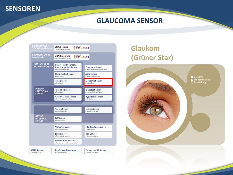 SENSOREN GLAUCOMA SENSOR Glaukom (Grüner Star)