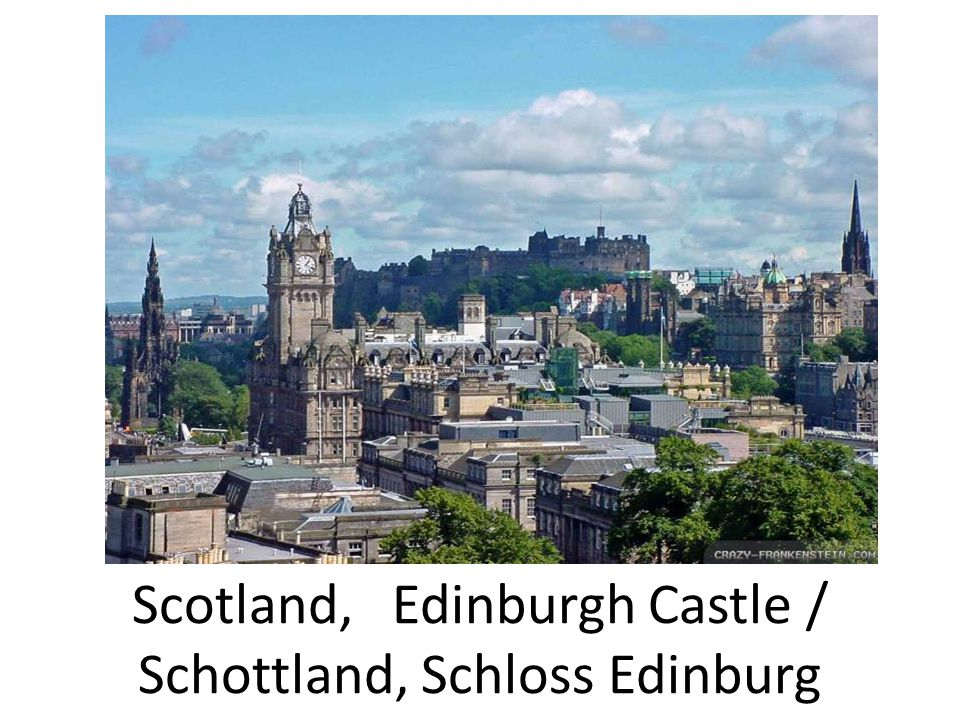 Scotland, Edinburgh Castle / Schottland, Schloss Edinburg