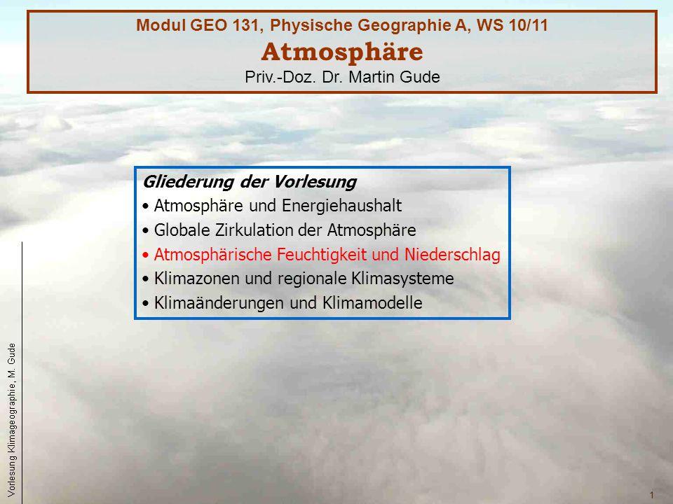 Atmosphäre Modul GEO 131, Physische Geographie A, WS 10/11