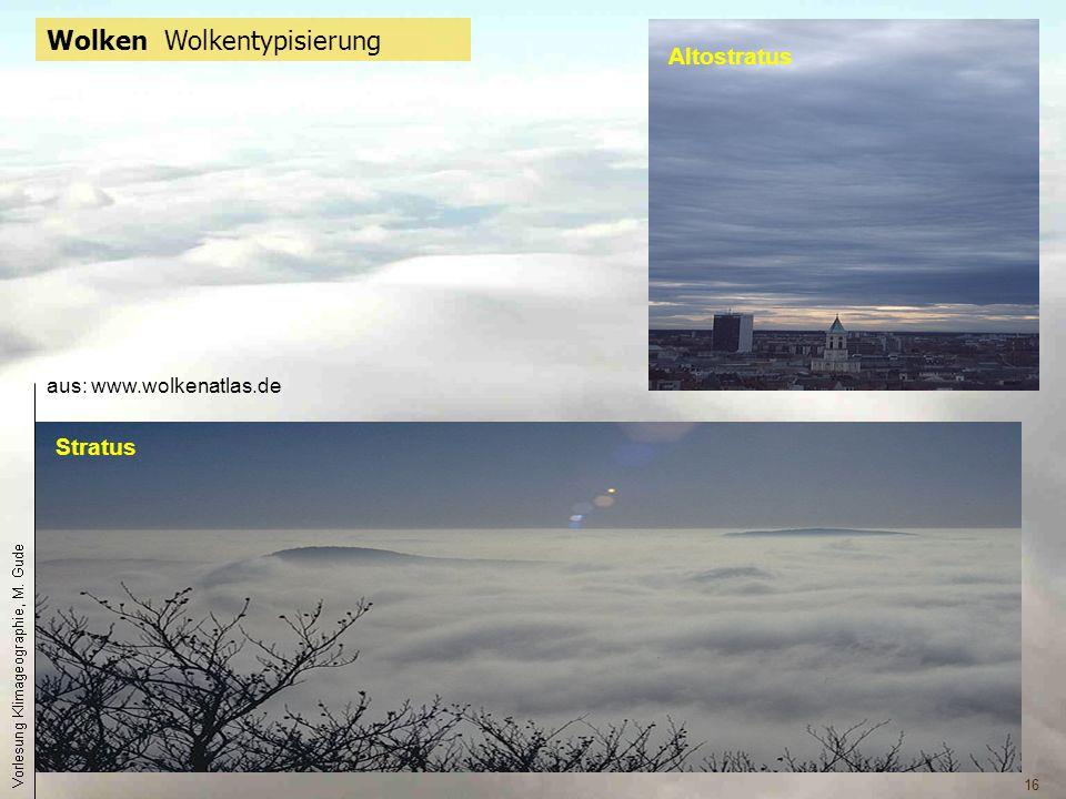 Wolken Wolkentypisierung