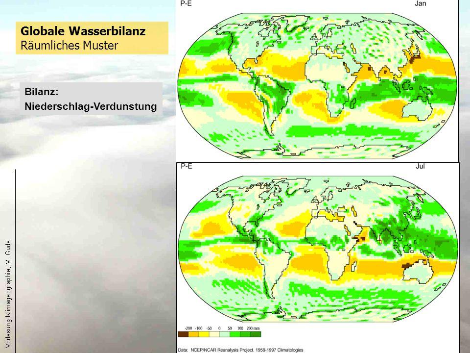 Globale Wasserbilanz Räumliches Muster