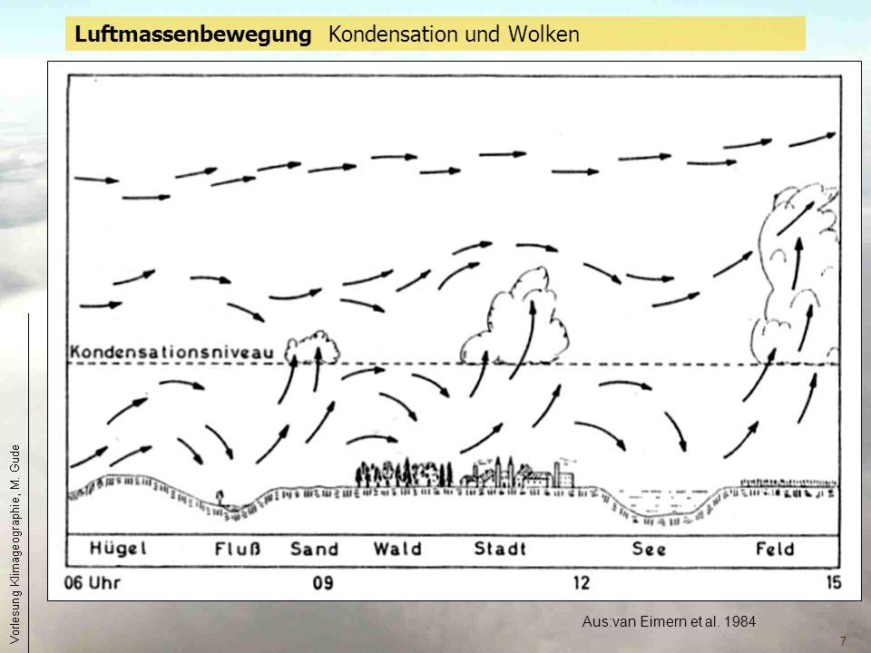 Luftmassenbewegung Kondensation und Wolken