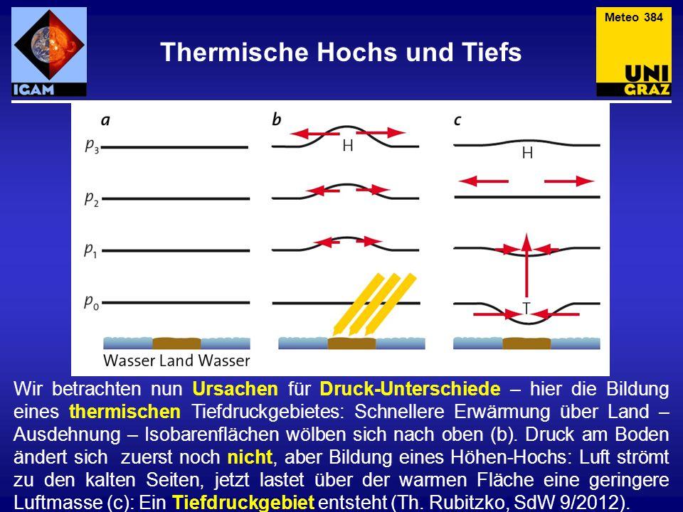 Thermische Hochs und Tiefs