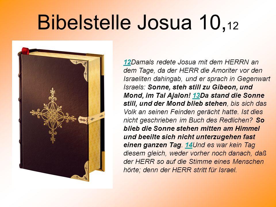 Bibelstelle Josua 10,12