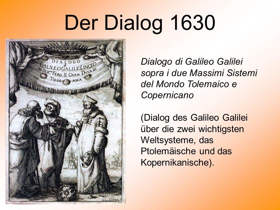 Der Dialog 1630 Dialogo di Galileo Galilei sopra i due Massimi Sistemi del Mondo Tolemaico e Copernicano.